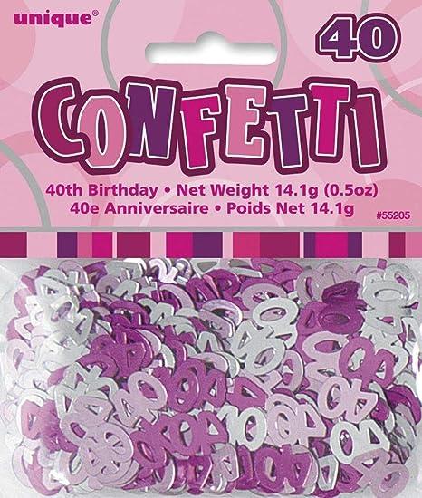 Nana S Party ENVÍO RÁPIDO Edad 40/40Thšªa Cumpleaños Rosa ...