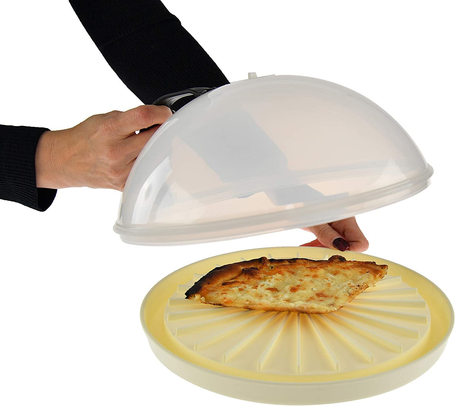 HOME-X Reusable Microwave Plate with Dome Lid Cover