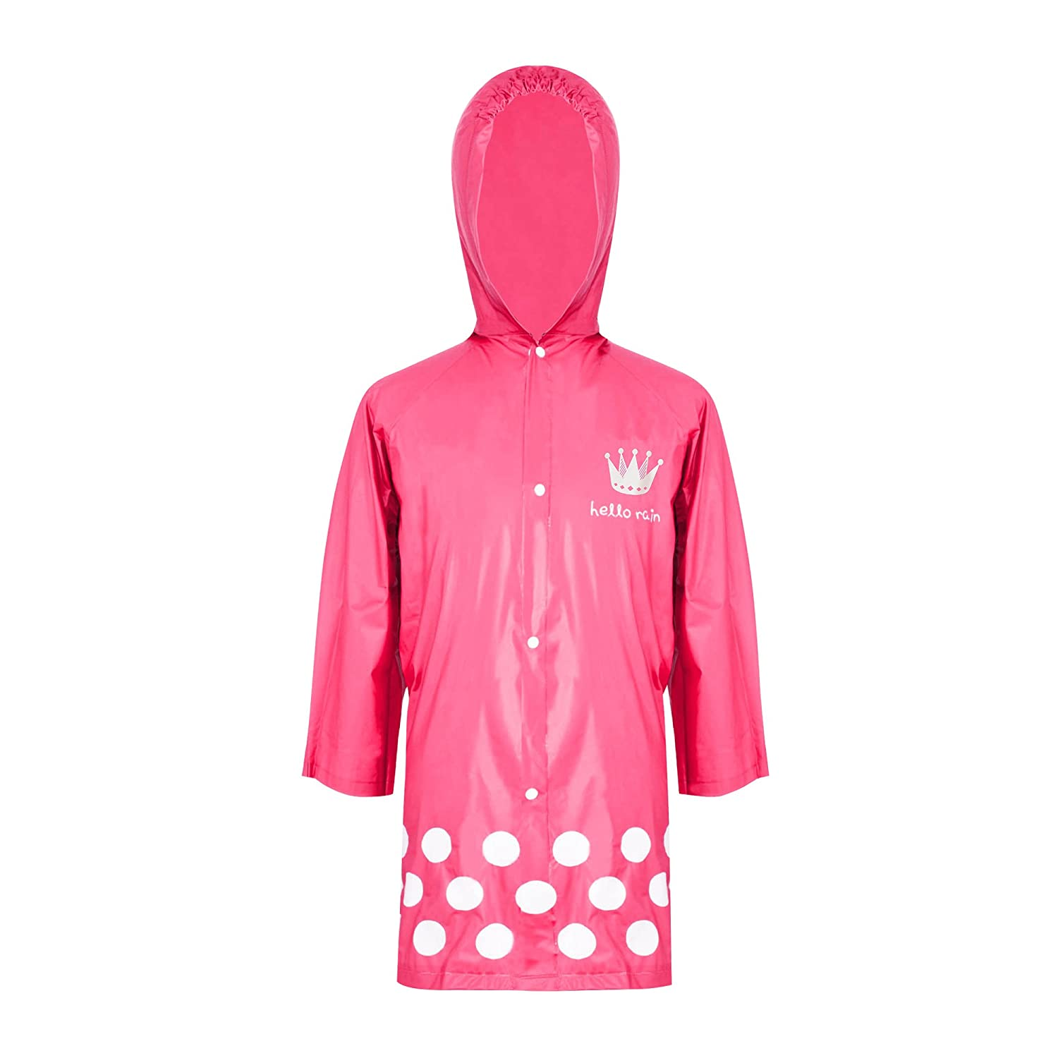 ZDHGLOBAL Children Rain Jacket Portable Poncho and Kids Raincoat With Hoods and Sleeves