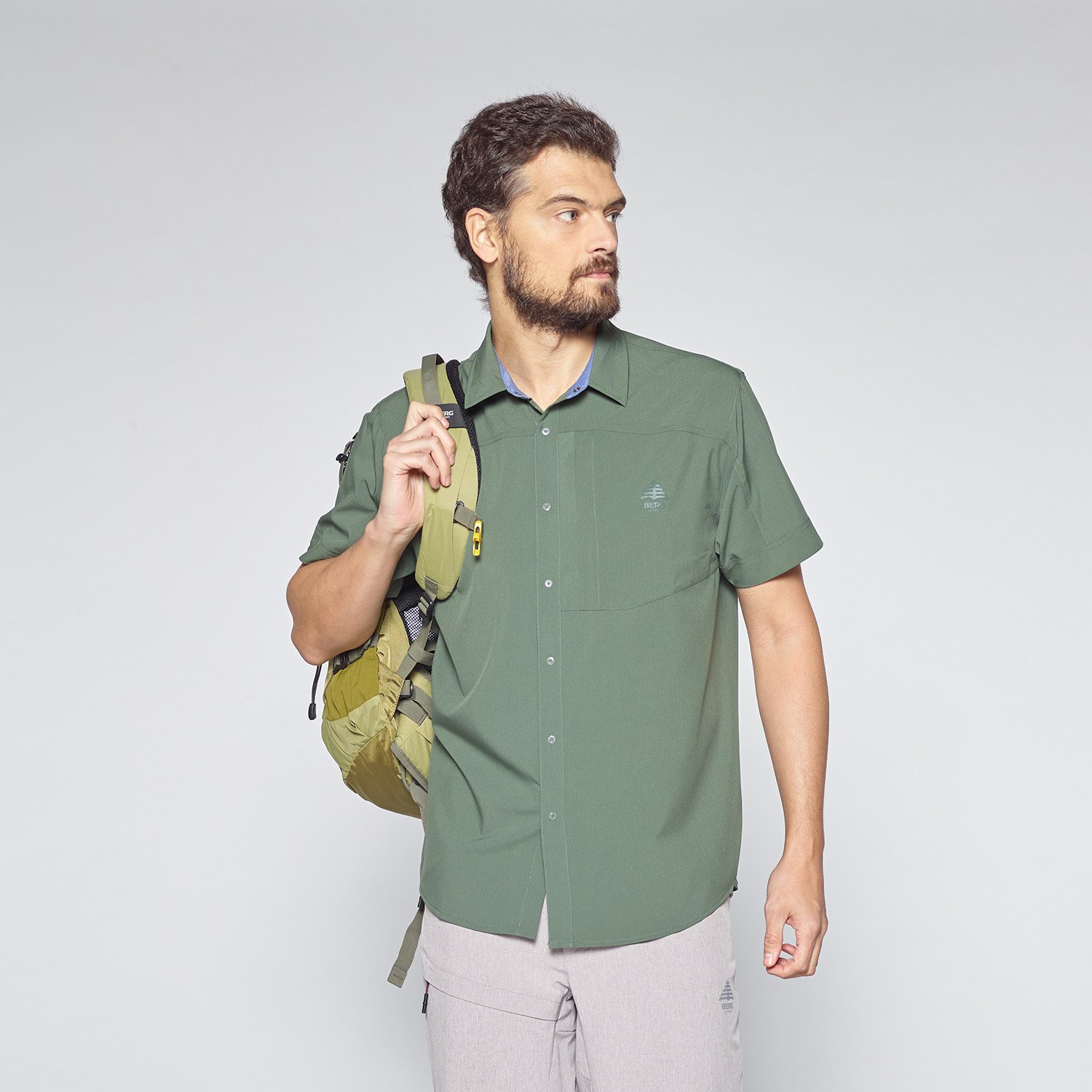 Berg Outdoor Herren gorumara Solid Shirt