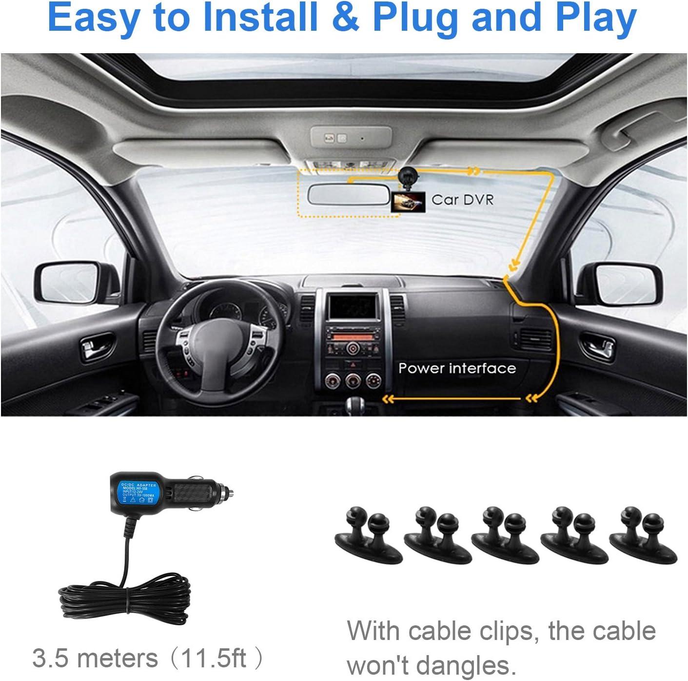 "MiniShark Dash Cam Full HD 1080P Car Blackbox Car Dash Cams DVR Dashboard Camera 3/"" LCD Screen Built In WDR G-Sensor Motion Detection Parking Monitor Loop Recorder Night Vision"
