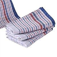 Bulk 50 Pcs Set, Commercial Vintage Tea Towels, 100% Cotton, Momi Check Linen, 46cmx77cm, Bigger, Thicker,Better