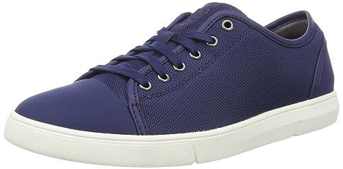 Clarks Lander Cap, Zapatillas para Hombre, Azul (Blue Combi), 45 EU