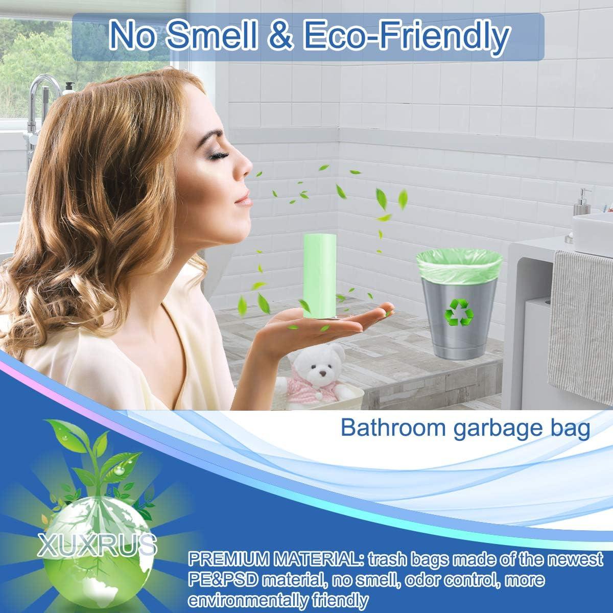 petits sacs en plastique pour bureau 1,2,3 gL 0,8 10 litres 78 gallons sacs poubelle de 3 gallons cuisine transparent XUXRUS Petite poubelle de salle de bain