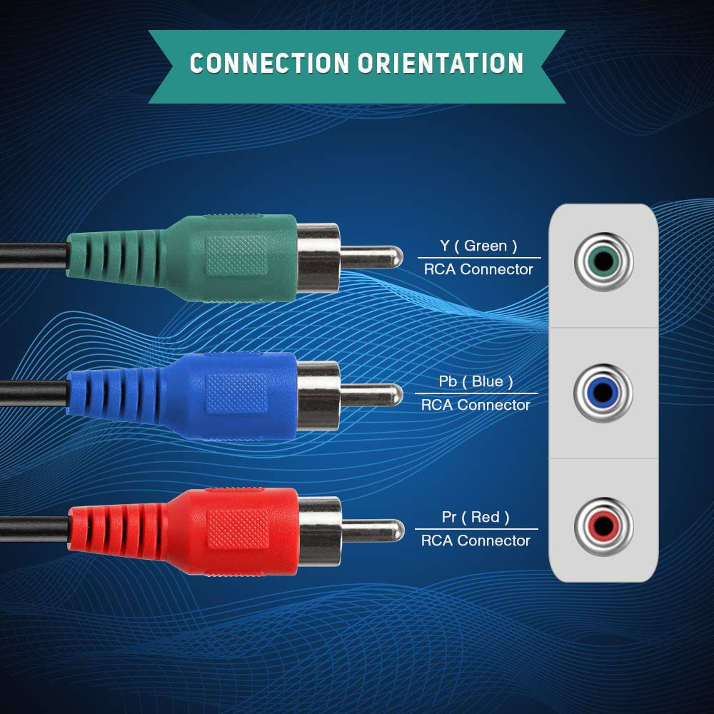Amazon.com: RocketBus Component Red Blue Green RCA Plug Connector ...