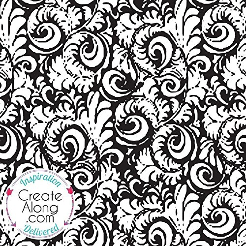 (Silkscreen Stencil Baroque Swirl Pattern Crafting, Polymer Clay + Mixed Media)