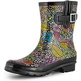 SheSole Women's Short Garden Rain Wellington Boots Gumboots Wellies Waterproof Rubber