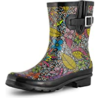 SheSole Women's Short Garden Rain Wellington Boots Gumboots Wellies Waterproof Rubber