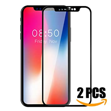 iPhone X Protector de Pantalla, KKtick Vidrio Templado iPhone X [9H Dureza][3D Touch][Alta Definicion] Cristal Templado para Apple iPhone X: Amazon.es: ...