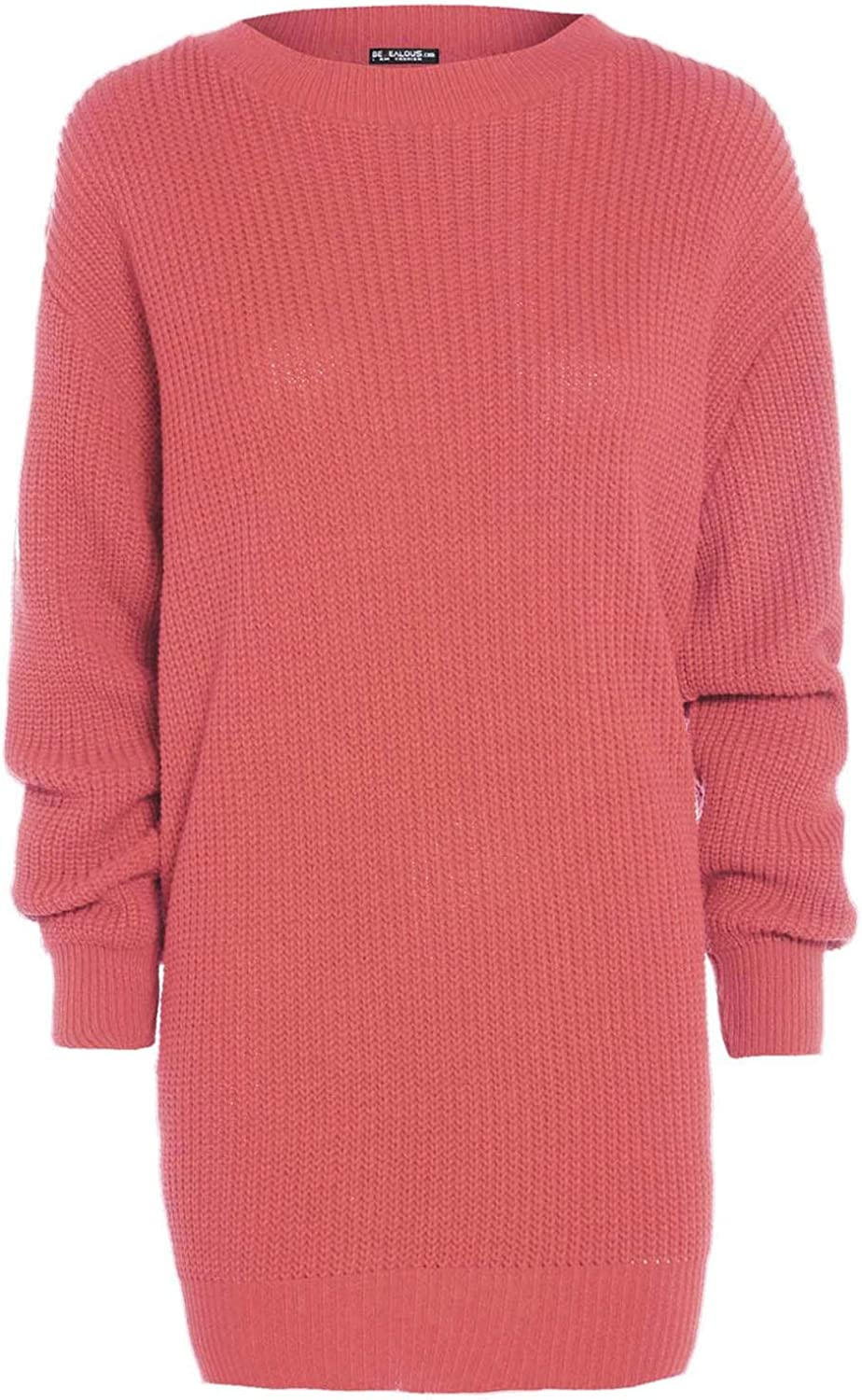 Fashion Star Womens Oversized Chunky Knitted Jumper Dress