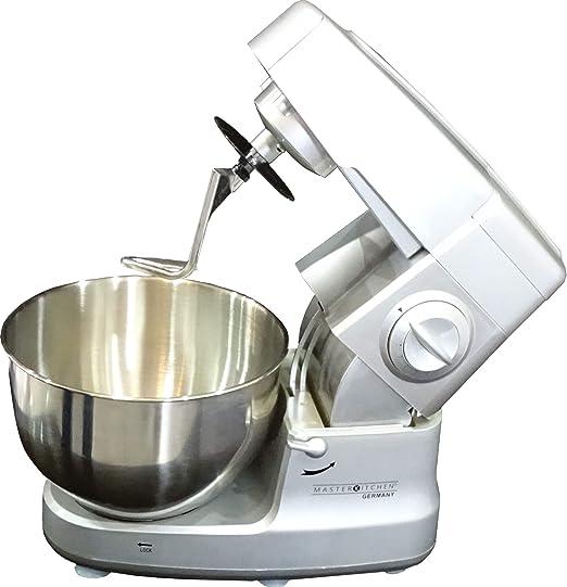 Master Kitchen XXL Robot de cocina batidora Plata 6 litros, 8 kg 1200 W: Amazon.es: Hogar