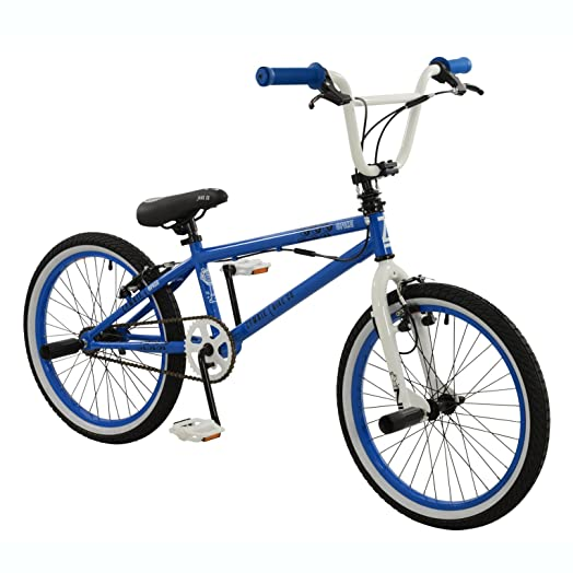 Zombie 20 Spike Bmx Bike Bicycle In Blue White With Gyro