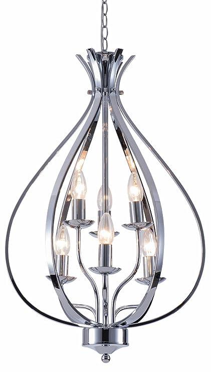 Amazon.com: Alice House Chandelier Lighting Fixture Chrome, E12 ...