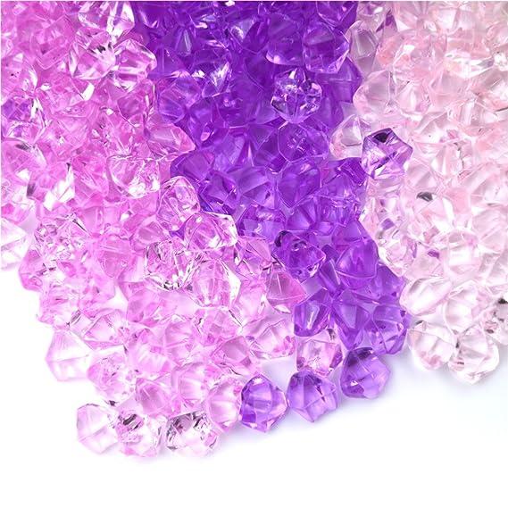 Tuantuan 1 Bag 10mm Acrylic Crystal Glass Stone Aquarium Vase Gems