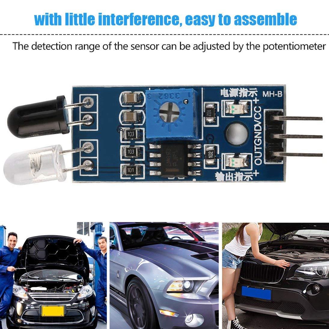 Super Deals 1Pc IR Sensor de evitaci/ón de obst/áculos por Infrarrojos para Arduino Smart Car Robot Mini tama/ño Peso Ligero ToGames-ES