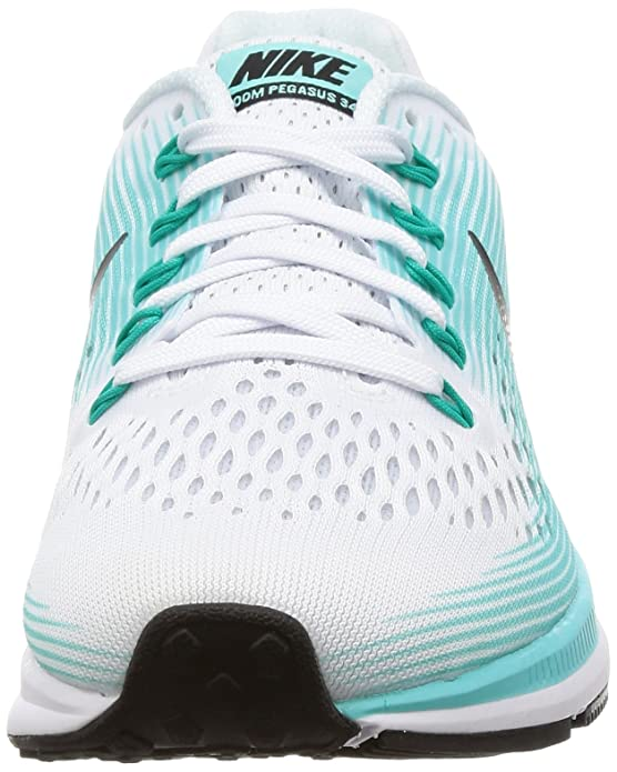 new product b9fa0 9865a Amazon.com | NIKE Women's Air Zoom Pegasus 34 White/Black Aurora Green Running  Shoe 6 Women US | Road Running