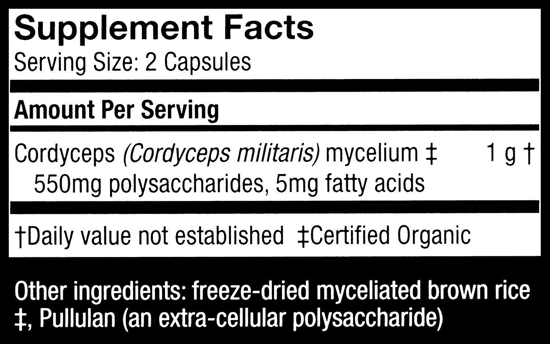 Fungi Perfecti Host Defense Cordyceps Capsules, 240 Count by Fungi Perfecti