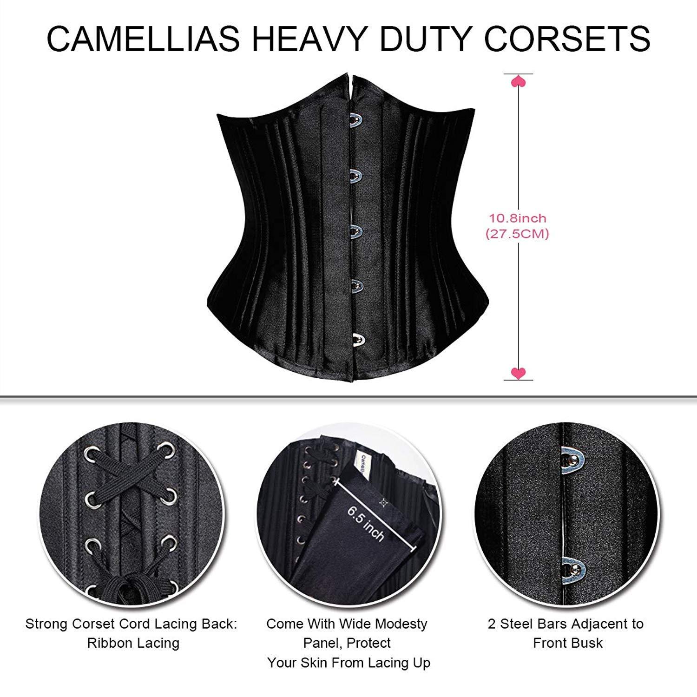 09483bd330 Camellias Women s 26 Steel Boned Heavy Duty Waist Trainer Corset ...