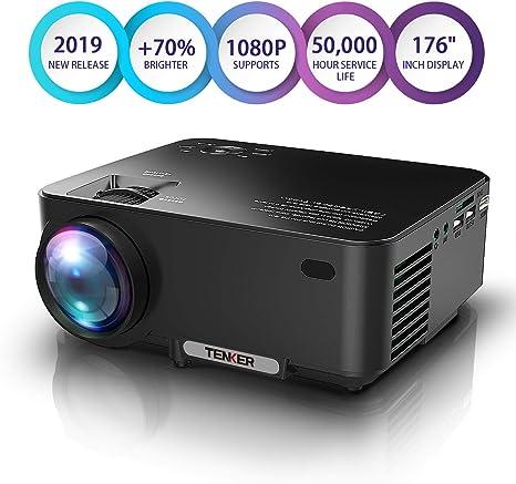 Amazon.com: TENKER - Mini proyector de lúmenes con pantalla ...