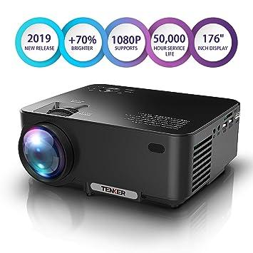 TENKER - Mini proyector de lúmenes, con pantalla grande LED ...