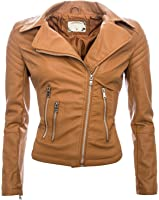 Damen Kunstleder Jacke Sommer Übergangs Kunst Leder Jacke Jacket B143