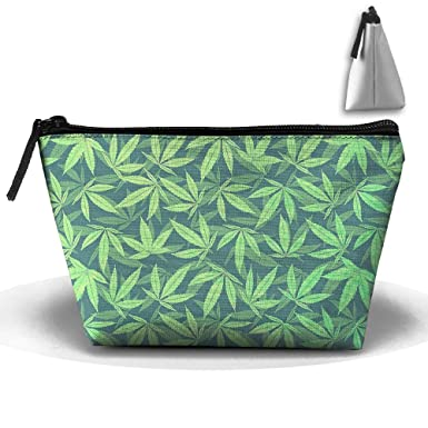 Amazon.com: Cannabis marihuana patrón bolsas de cosméticos ...