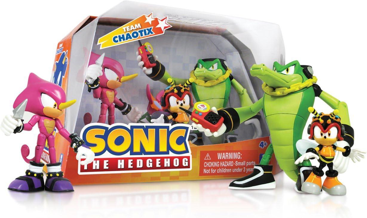 Sonic The Hedgehog Team Chaotix Figures Set Vector Espio Charmy Bee Figures Amazon Canada