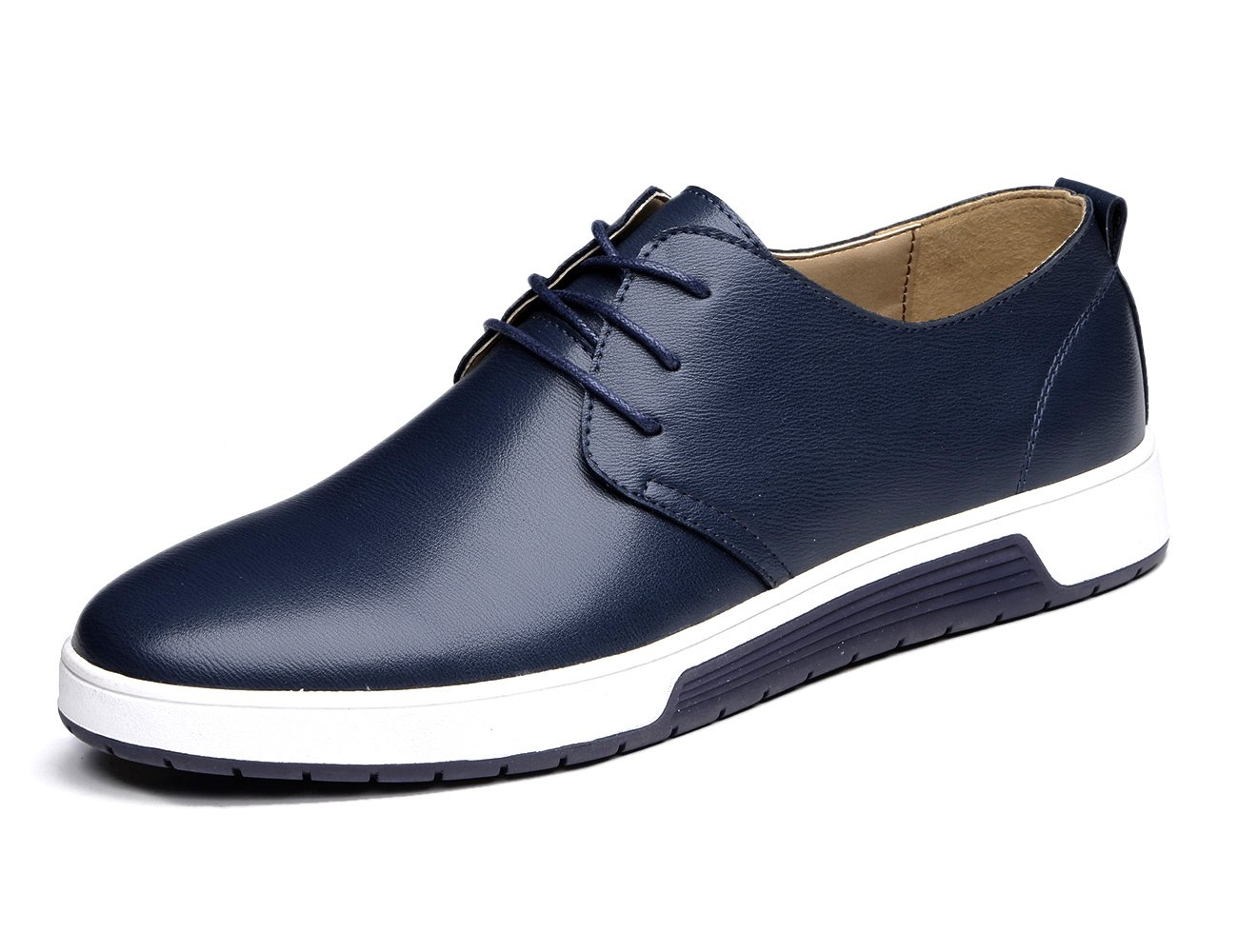 XMWEALTHY Men's British Style Comfortable Flat Dress Shoes Blue US 11