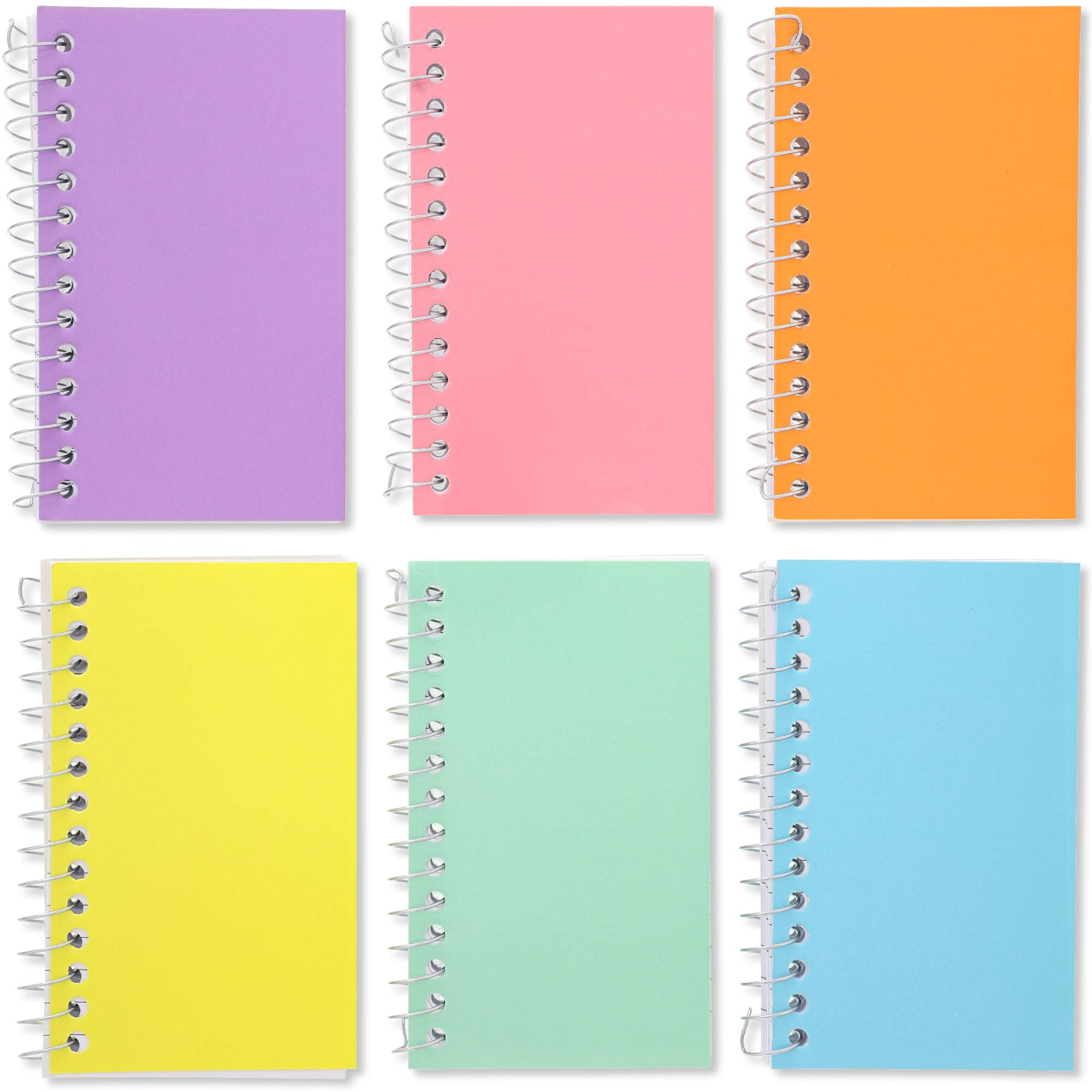 Paper Junkie 12-Pack Mini Spiral Notebooks, College Ruled Wirebound Notepads, Pastel Colors, 3 x 5 Inches