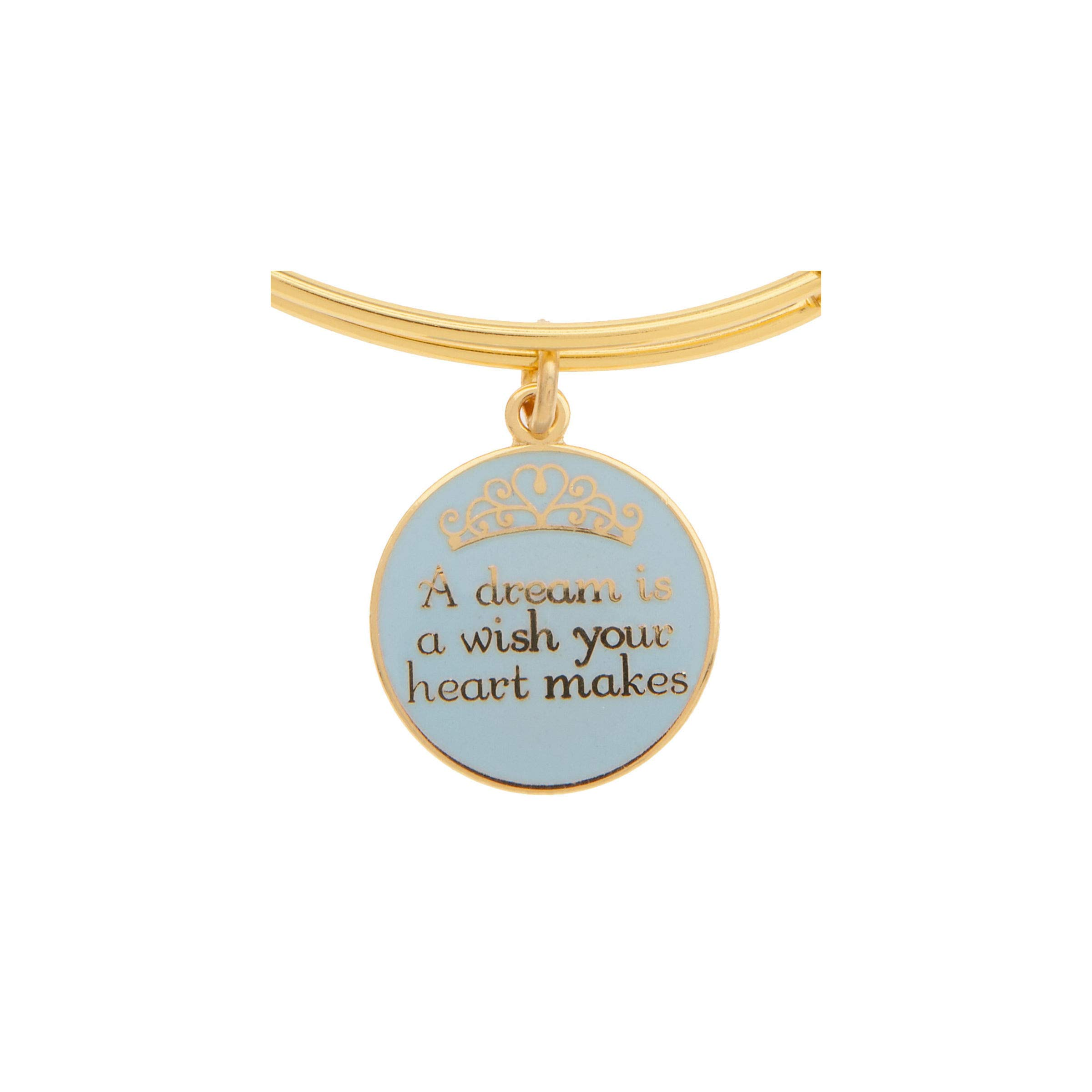 Disney Parks Alex and Ani Dream is a Wish Gold Charm Bangle Bracelet by Alex and Ani (Image #2)
