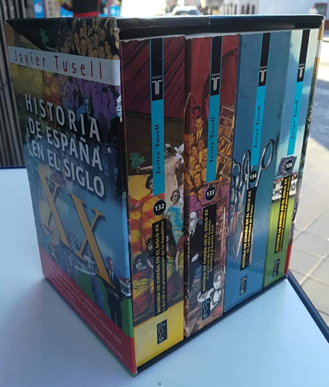 Historia de España s. XX estuche 4 vols obra completa Taurus bolsillo: Amazon.es: Tusell, Javier: Libros
