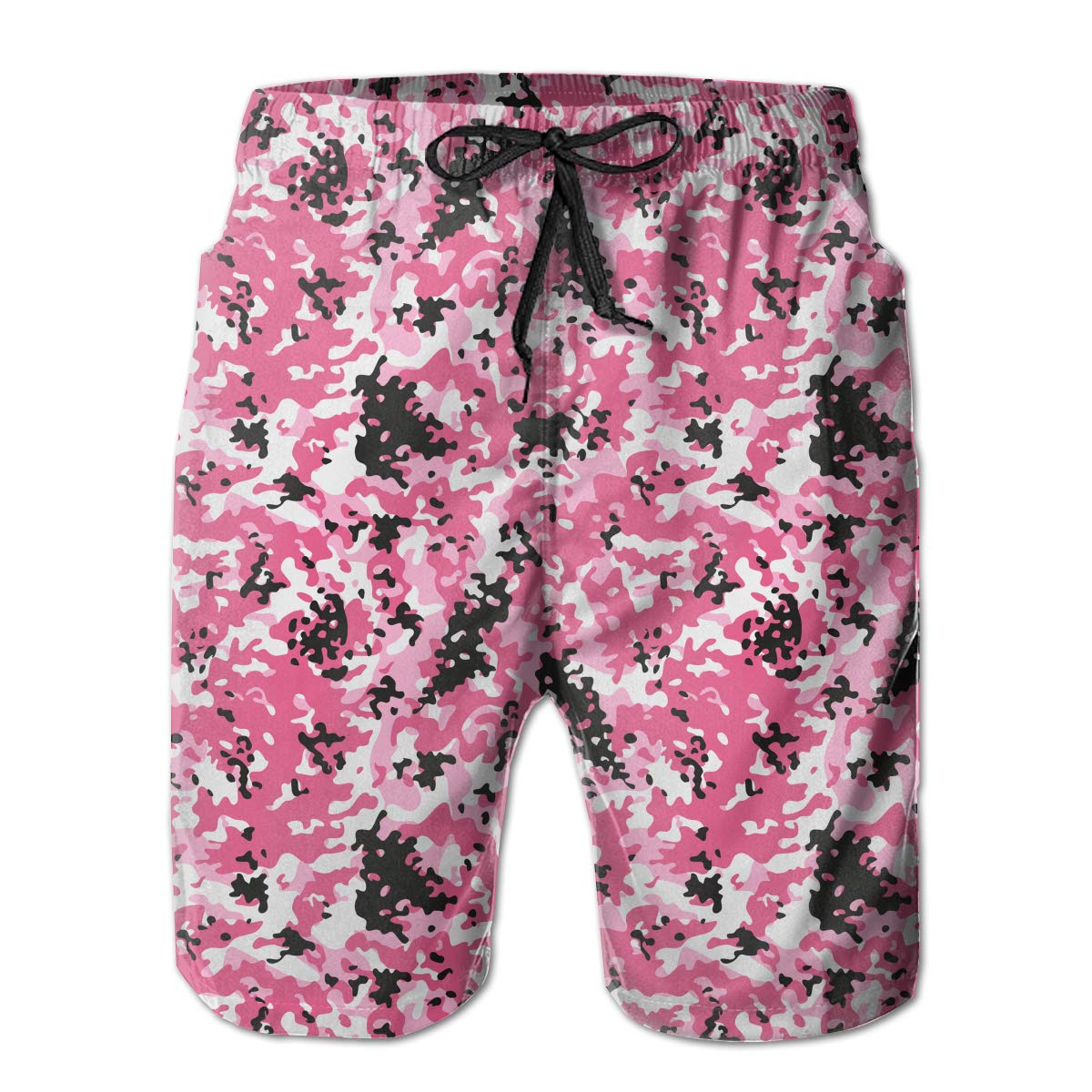APPCLL Fashion Swim Trunks Mens Board Shorts Modern Pink Camouflage Quick Dry Shorts