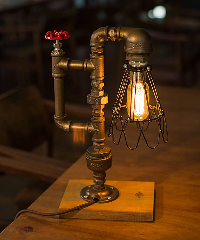 The /'Skipper/' Steampunk Style Table Lamp