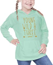 Girl Third Birthday Shirt, Three Year Old Birthday Girl Outfit 3rd Birthday (Green,4T)