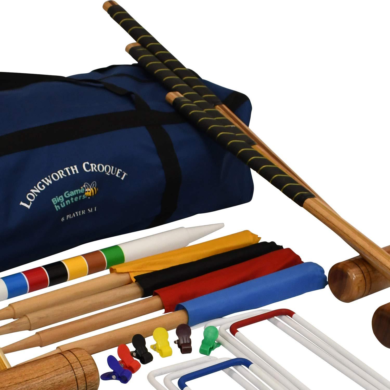 Kit De Croquet Para 6 Jugadores Longworth – Equipo Completo De Croquet para Adultos Incluye Bolsa De Lona