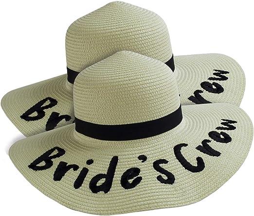 Bridally Sombreros de Despedida de Soltera para Novia, Playa, Boda ...