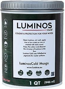 LuminosCold LUM1152 - Musgo - Outdoor Wood Stain Finish Protector IR Reflective - Color Green Moss - Quart (1 QT, Green)