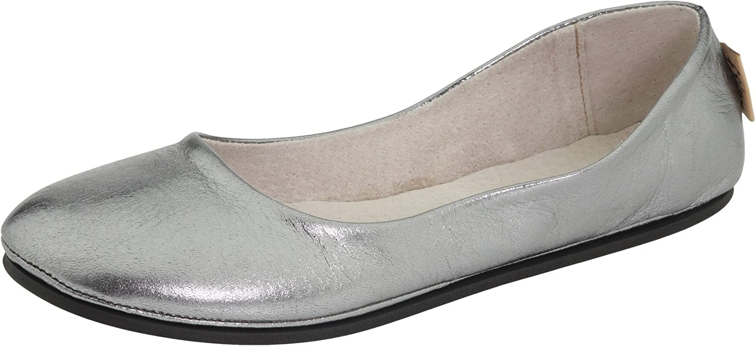 French Sole FS/NY Women's Sloop Ballet Flat B0049Q8AXK 6 B(M) US|Pewter Nappa
