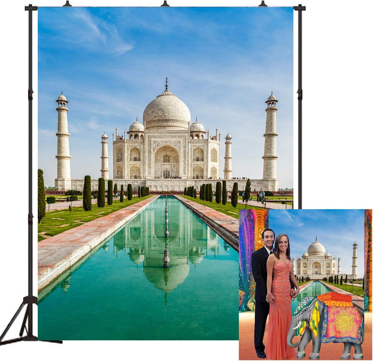 Beautiful Taj Mahal Photo Studio Backdrop 5x7FT India Landmark Light Props Wall Photography Background EY004