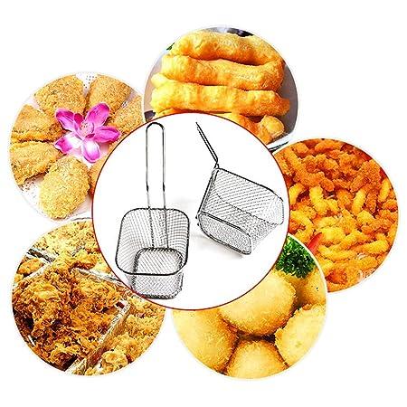 Samtlan Canasta para Papas Fritas Fries Holder Fries Basket Canastas de Freidora Cesta de Freír Práctico Mini Colador Frito Herramienta de Cocina: ...