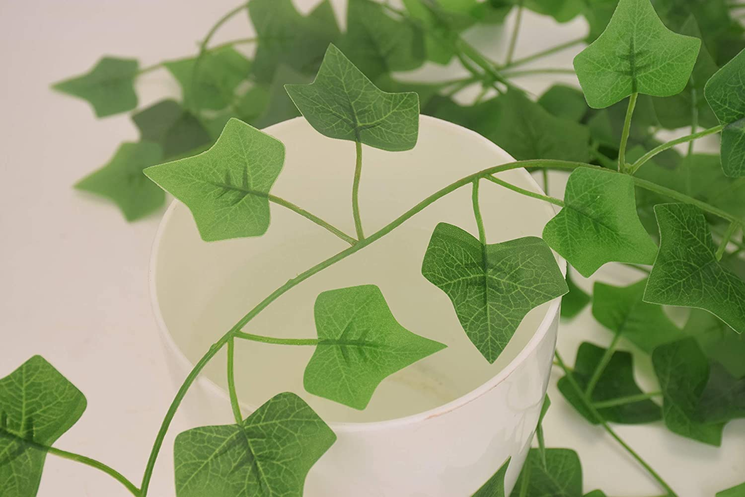 50% Off Coupon – 84Ft 12 Pack Artificial Ivy Fake Plants with 200 LED String Lights