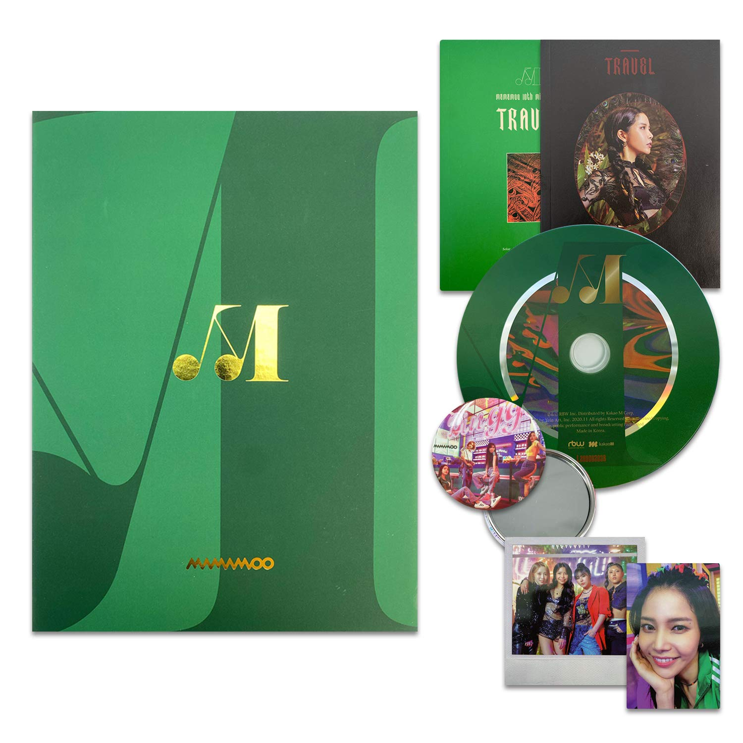 MAMAMOO 10th Mini Album - TRAVEL [ LIGHT GREEN ver. ] CD + Booklet + Polaroid + Photocard + OFFICIAL POSTER + FREE GIFT / K-POP Sealed