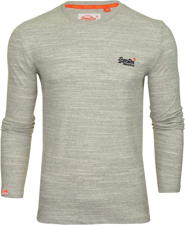 Superdry Orange Label T Shirt ML Homme Gris Taille XS