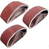 Sackorange 30 PCS 3 inch x 18 inch Sanding Belts - 10 Each of 80 120 150 Grit Aluminum Oxide Sanding Belts For Belt…
