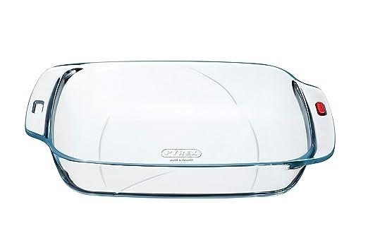 Pyrex Reflections - Bandeja rectangular mediana de cristal, 33 x ...