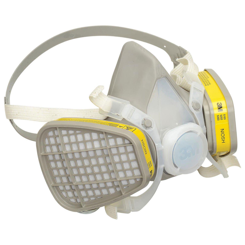3M Half Facepiece Disposable Respirator Assembly, Medium, 5203