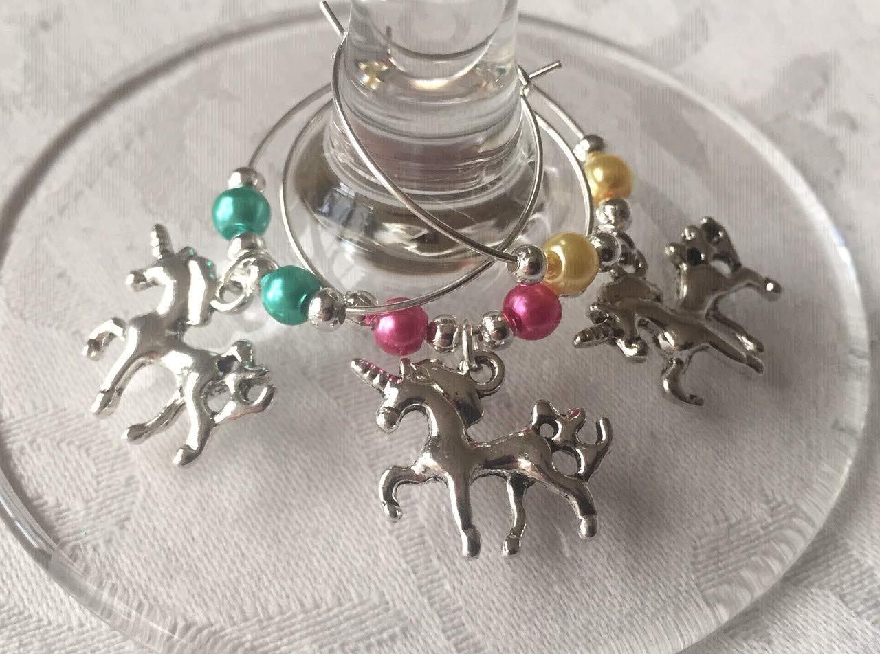 Unicorn Wine Glass Charms