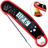 Greyghost Instant Read Meat Thermometer ,Waterproof Ultra Fast Thermometer with Backlight & Calibration Digital Food Thermometer for Kitchen, Outdoor Cooking and BBQ