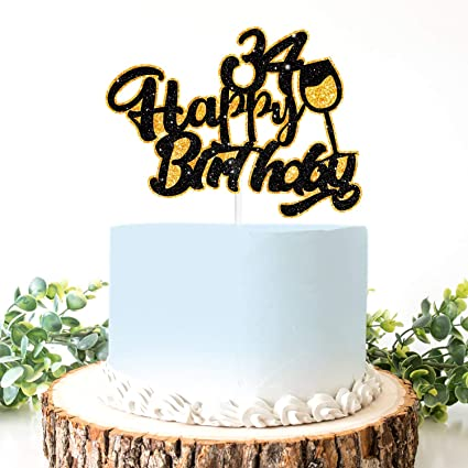 The Hunt Is Over Wedding Cake Topper Funny Deer Birthday Party Decoration Black