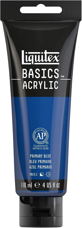 Liquitex BASICS Acrylic Paint, 4-oz tube, Primary Blue, 4 Fl